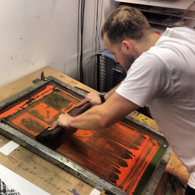 Screen Printing #handson #instagood #content