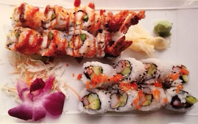 Lunch special combo - shrimo tempura & California roll.JPG