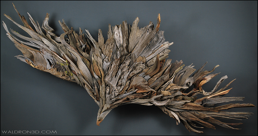BOUNDLESS || WALDRON 3D SCULPTURAL EXPRESSIONS CONSTRUCTED FROM FORAGED, WEATHERED PIECES OF HIGH DESERT WOOD.