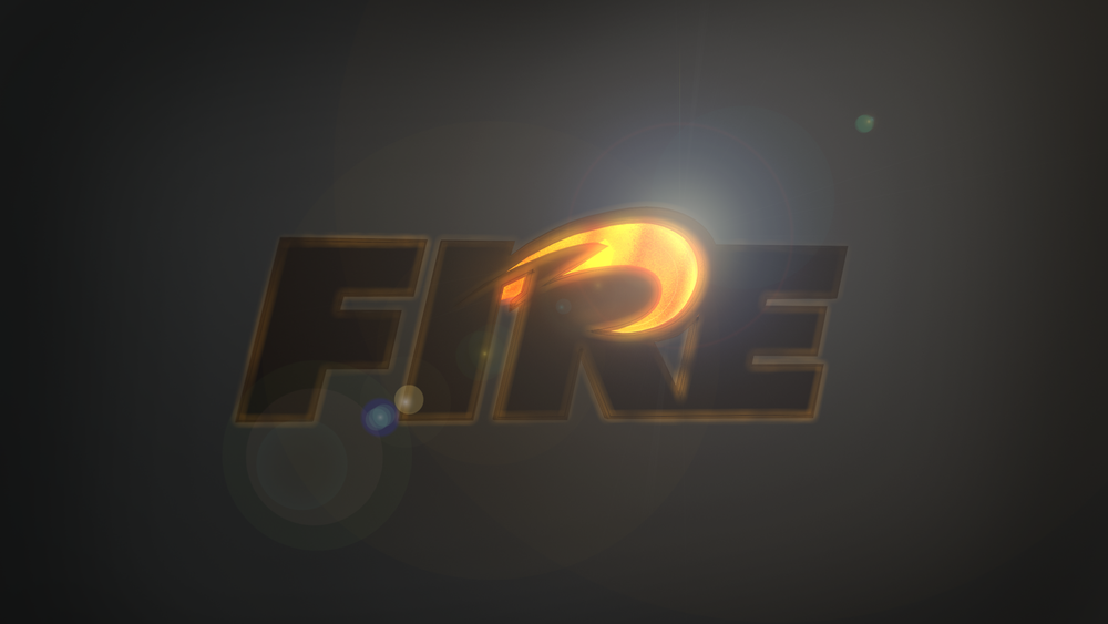 Stylized rendering of the Fire logo with fiery light trails.