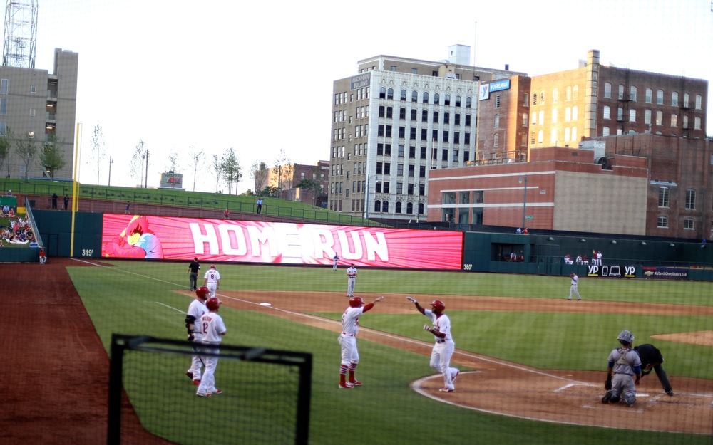 The Memphis Redbirds! (AAA Cardinals team). One of the best minor league stadiums in the country, which was super cool to see