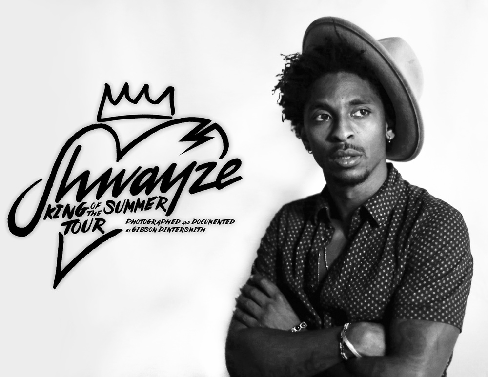 Shwayze King Of The Summer Tour two-page spread, as shown in the 6th Ellis Music Magazine Issue