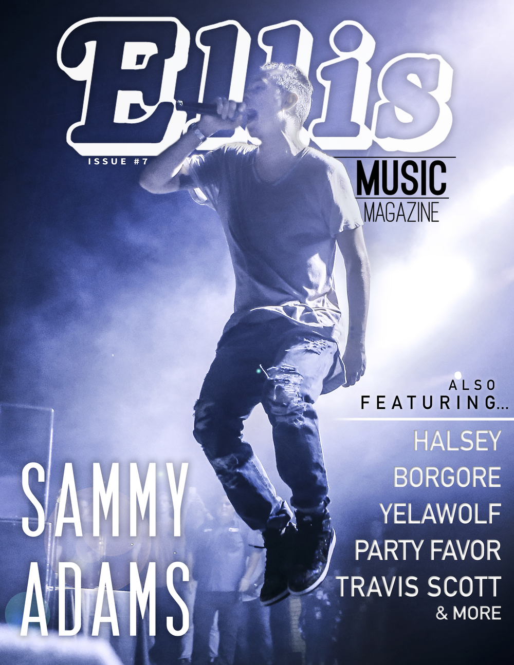 The cover of the seventh Ellis Music Magazine Issue that I photographed and designed