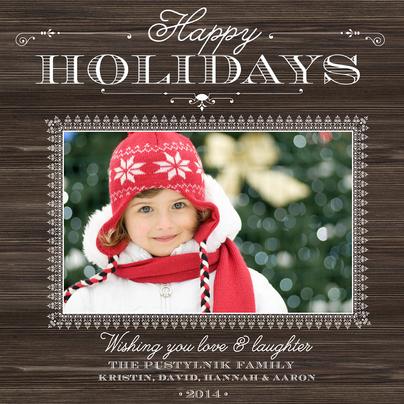 """""""Warm Woodland"""" Photo Holiday Cards"""