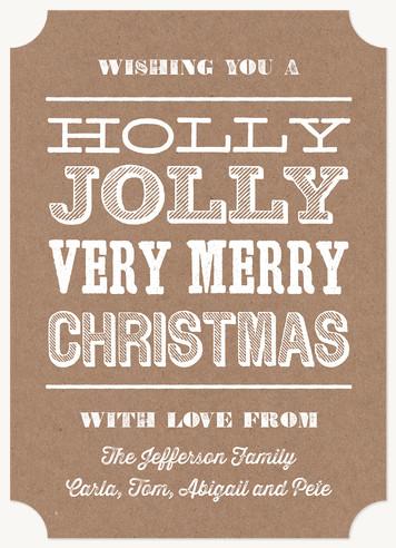 """Woodcut Christmas"" Custom Holiday Invitation"