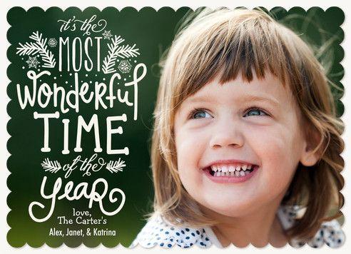 """Most Wonderful"" Photo Holiday Card"