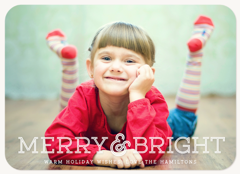 """""""Ampersand Love"""" Photo Holiday Card"""