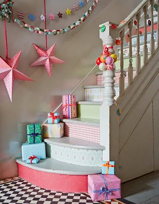 Wrapping Paper Stairs