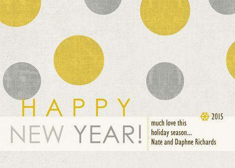Ruby Bubbles Custom New Years Card