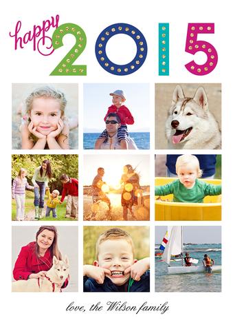 New Year Marquee Custom New Year's Photo Card