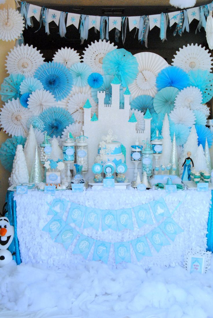 FROZEN Party Fabric Banner