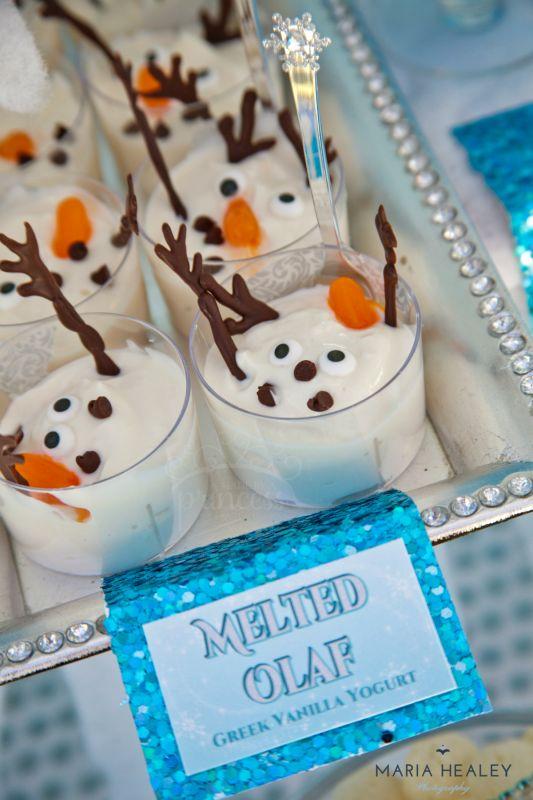 Melted Olaf Dessert
