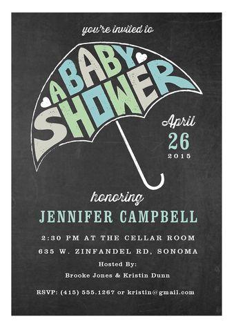 """""""Umbrella Love"""" Custom Invites"""