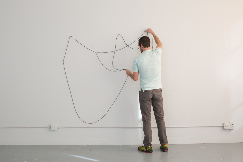 Hanging Drawing , participatory performance, 2015 Photo: Kristen Finn