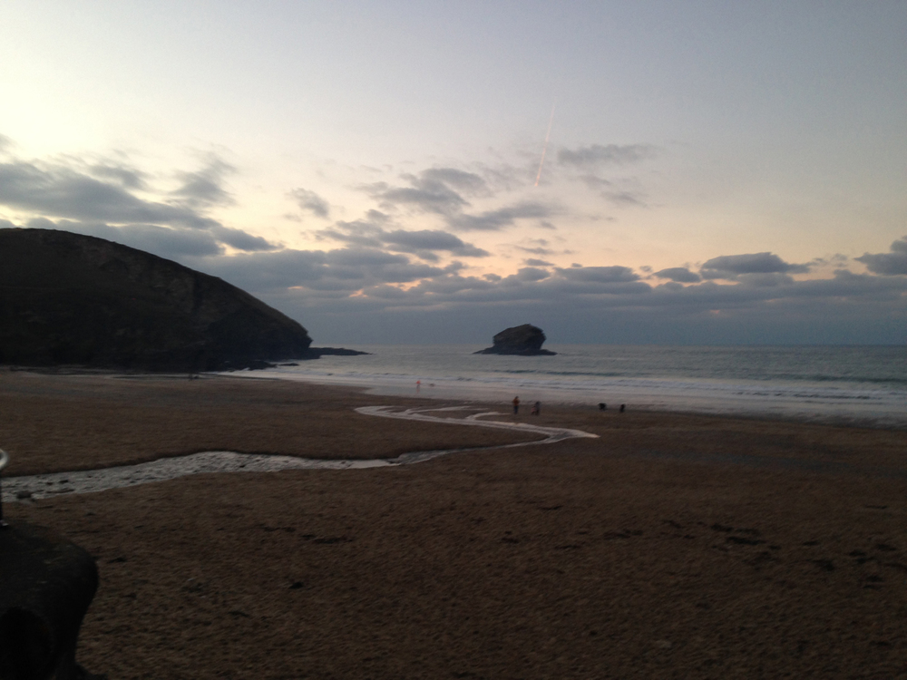 Watching Water Portreath Beach dusk.jpg