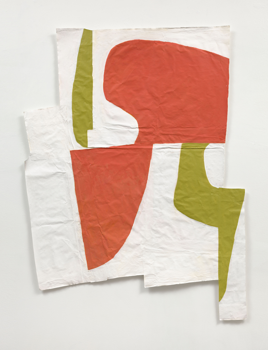 "Disrupted Drawing 3 , 2013, acrylic, gouache, and gesso on rice paper, 45"" x 38"""