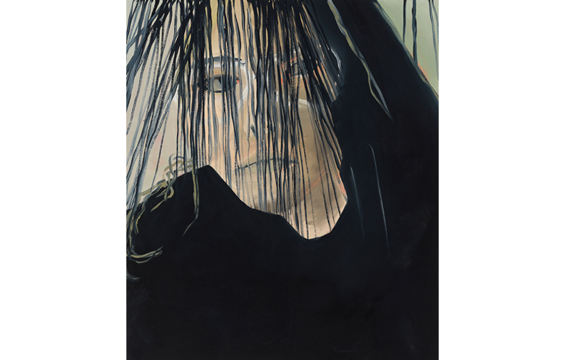 "Marika's Thread,  2018, oil on canvas, 33"" x 28"""