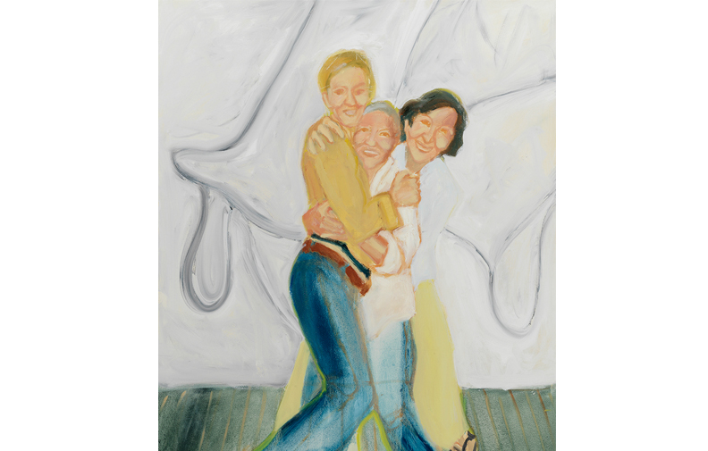 "Sisters in the Studio , 2018, oil on canvas, 45"" x 39"""