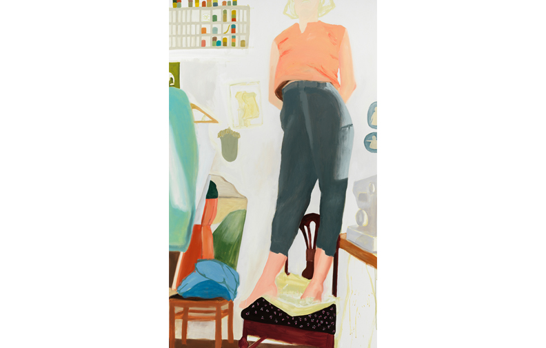 "Anastatia's Trousers , 2018, oil on canvas, 90"" x 56"""