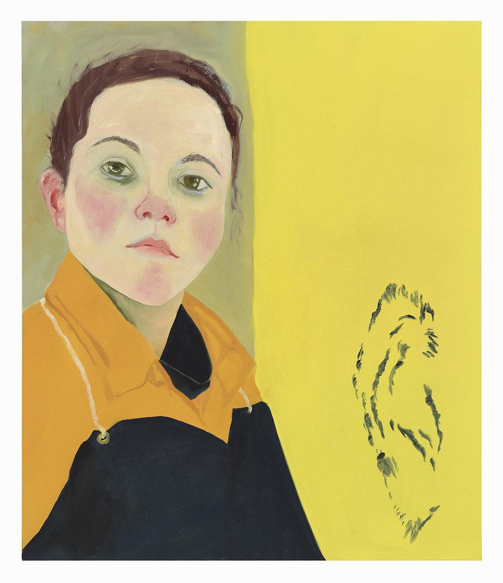 "Anastatia Double Weave , 2018, oil on canvas, 33"" x 28"""