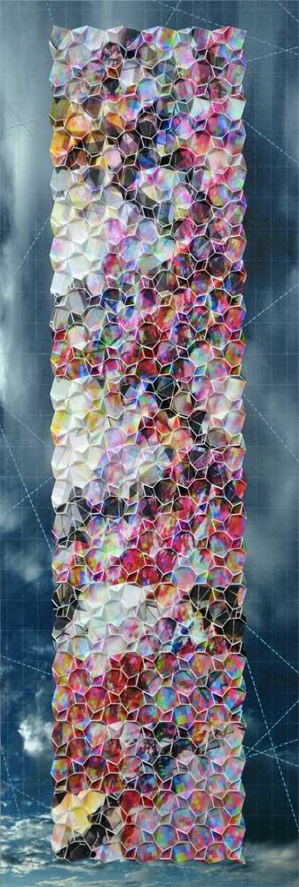 """Werner Sun   Mapmaker's Dream III , 2016 Archival inkjet prints on board 36"""" x 12"""" x 2"""""""