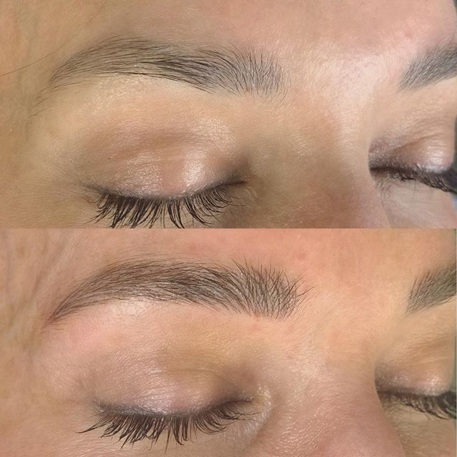 ⬆️ Healed brows after first session ⬇️ Right after touchup session. Soft and natural looking brows for this natural beauty 😍 #Microblading by: @alixandriataylor at @hairylittlethings