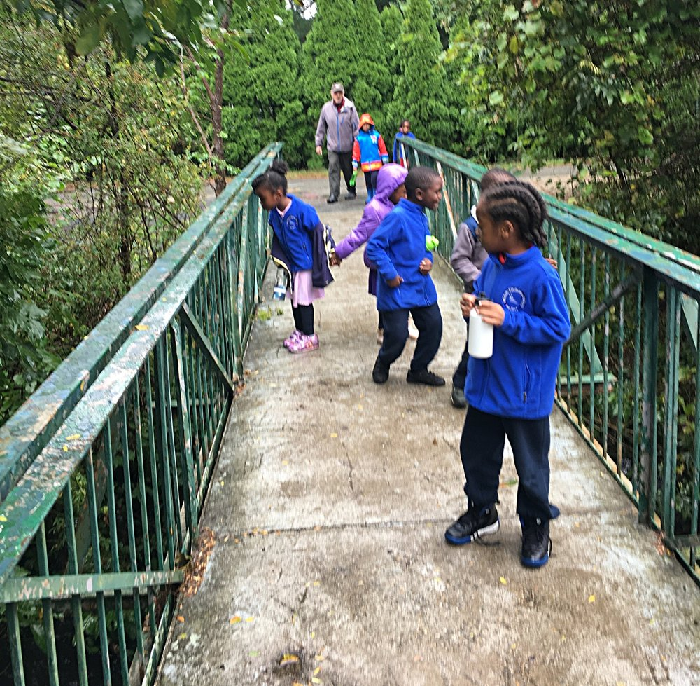 This past Friday, Mr. Rich McCampbell joined the students on their weekly outing. They enjoyed exploring the woods of Milton and hearing about the nature around them from a person who knows the area well.