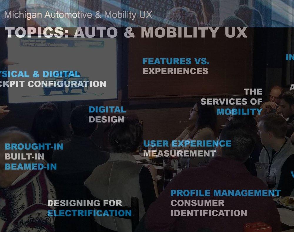 MI Automotive & Mobility UX Group