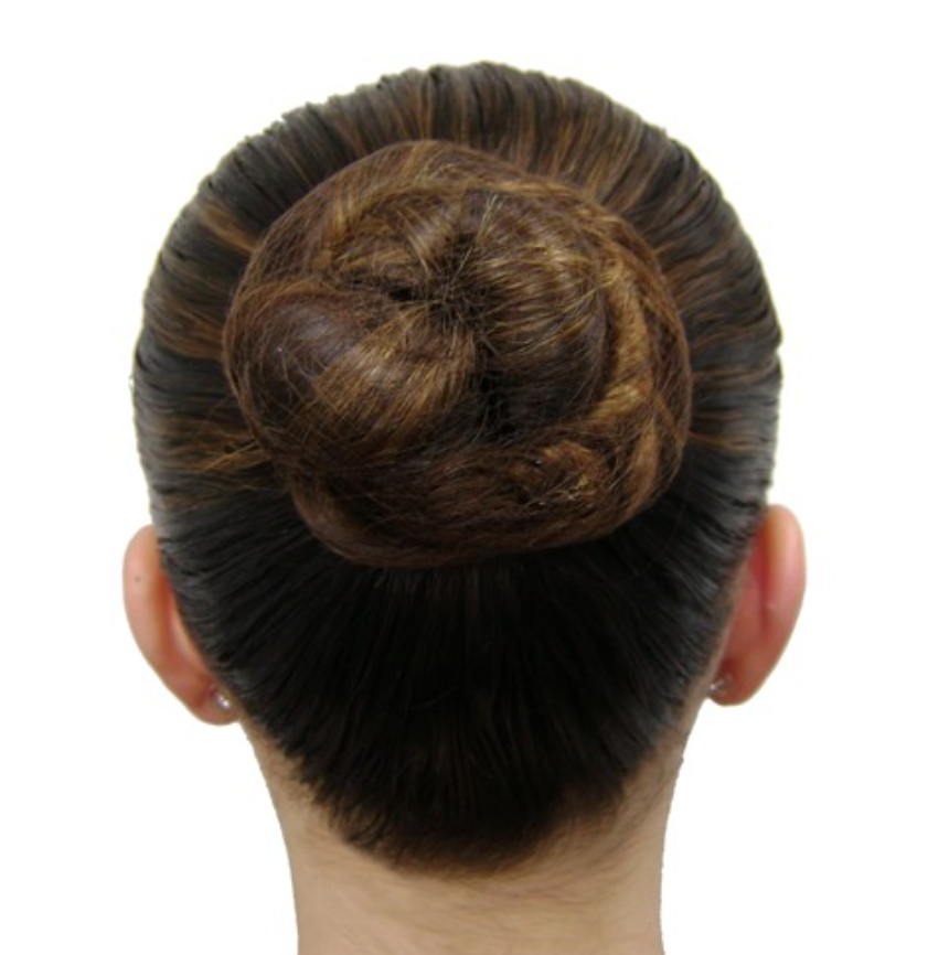 ballet bun with hairnet