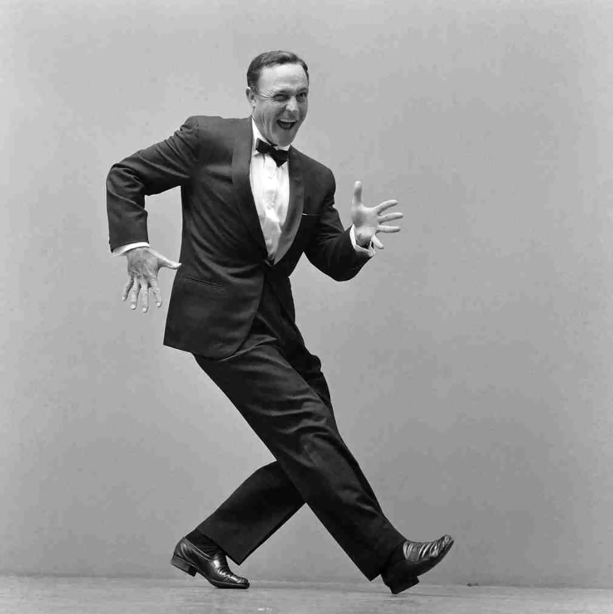 Famous actor, singer and dancer Gene Kelly.
