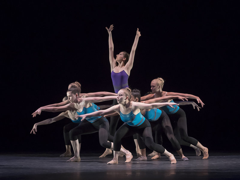 Dancers from Ballet 5:8 School of the Arts Conservatory Program in Julia Rzonca's  Conformity  at Regional Dance America's National Festival in Phoenix, Arizona, in May 2017.