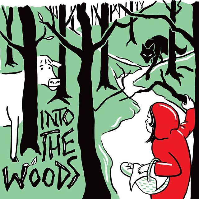 We're just a couple of weeks away from the much anticipated summer run of Into the Woods @carriagehousetheatre in Cardston. Can't wait! #carriagehousetheatre #explorecardston #illustration #cardston #lettering #intothewoods #livetheatre #musicaltheatre #illustrator #uppercasecreative