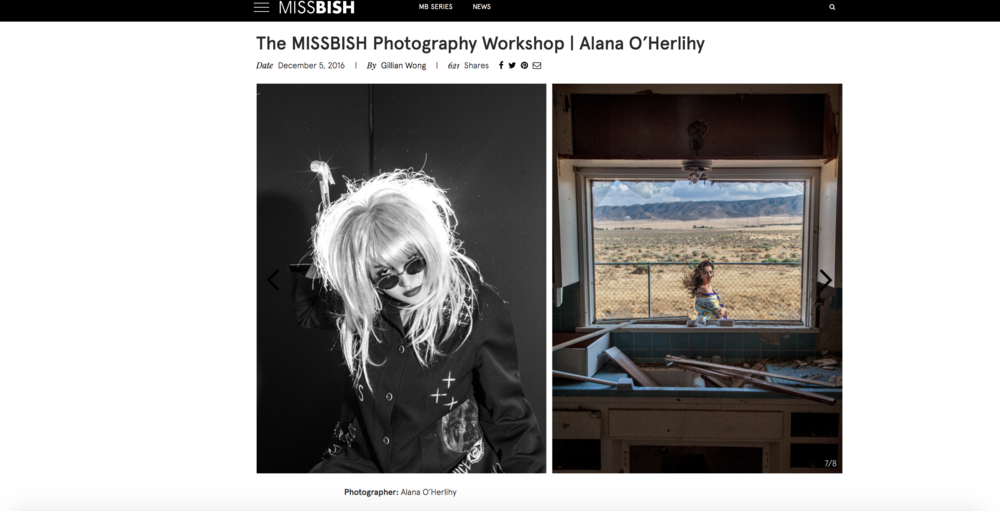 PHOTOGRAPHY WORKSHOP - MISSBISH