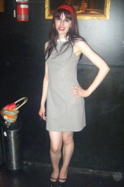Nerd alert; Wearing this dress a few years back at party. Clad with braces and having a less than stellar hair day.