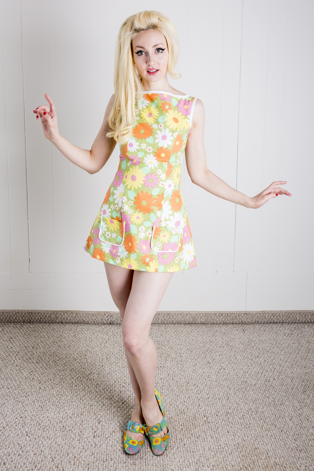Flower Power Sixties Tunic/Mini Dress