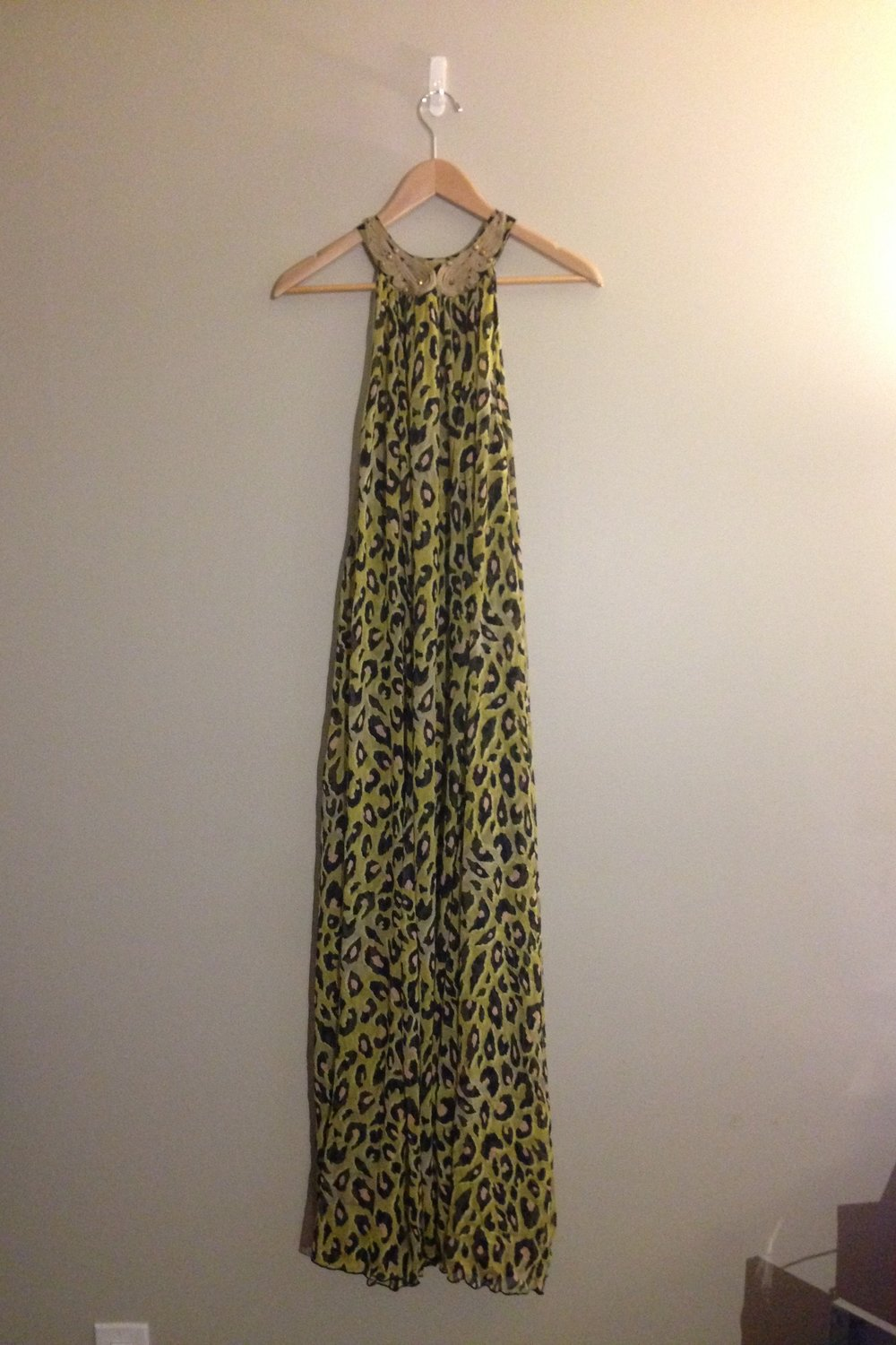 H&M Leopard Print Maxi Dress
