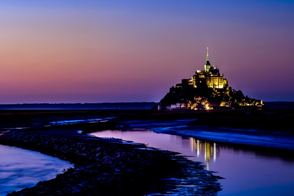 Mont St Michel Abbey, France