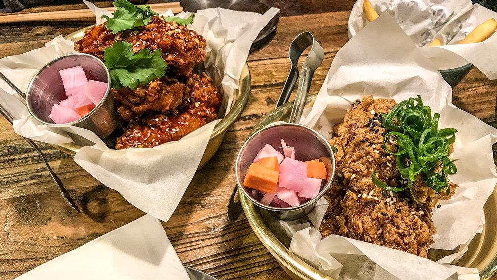 Spicy Bomb Chicken; Soy Garlic Chicken