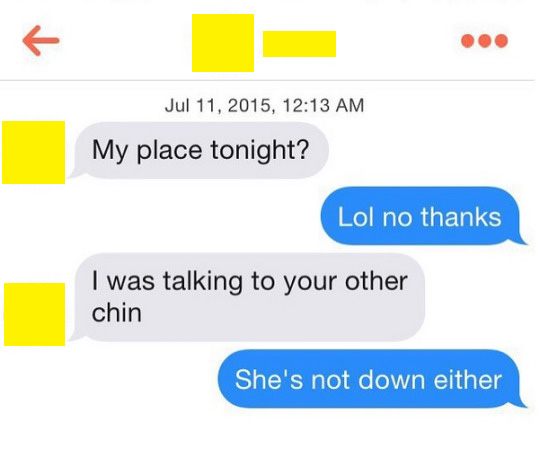 Flirt, fail, insult, fail.