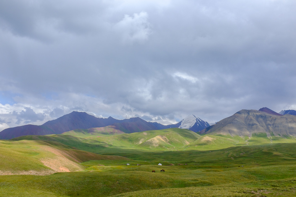 The foothills of the Pamir mountains