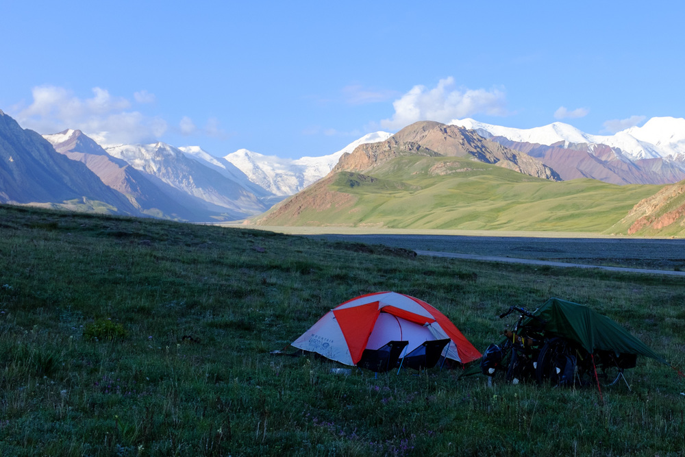 Our first high altitude campsite
