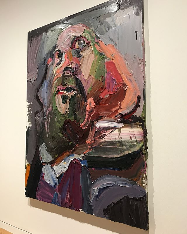 Making it to the other side of this round of treatment friends.  Was able to make it out to the @artgalleryofnsw, albeit in a wheelchair, but it was so nourishing to my soul to take in some art after staring at the inside of a hospital for nearly three weeks.  @benquilty self portrait, the executioner.  Standing in front of this piece it morphed and moved and merged. What an experience. Heart wrenching.