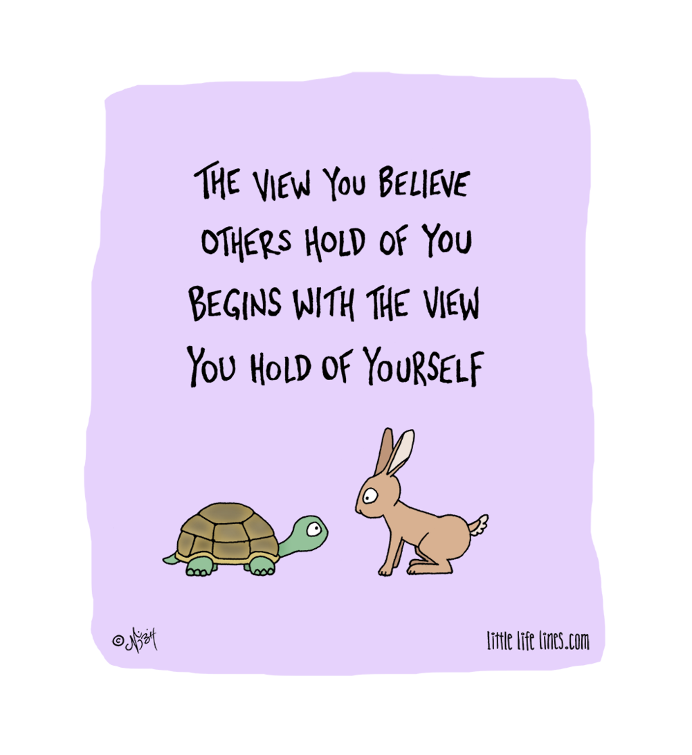 How others view you and how you view yourself the tortoise and the hare