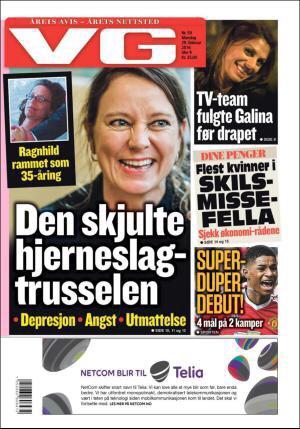 Forsidepike i VG, mandag 29. februar