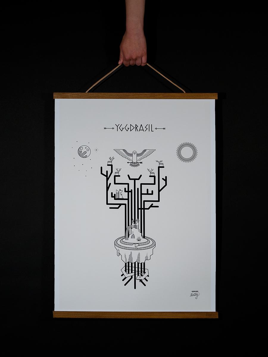 énorme réduction 5b3fe 30528 Yggdrasil Poster — Nordisen