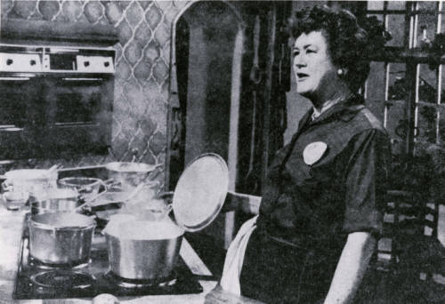 My recent role model: the one-of-a-kind Julia Child. Photo credit: KUHT-TV (Television station : Houston, Tex.),  Julia Child, Image 1 , 1953 - 2011, KUHT Highlights, Special Collections, University of Houston Libraries, accessed August 6, 2015, http://digital.lib.uh.edu/collection/p15195coll38/item/262.