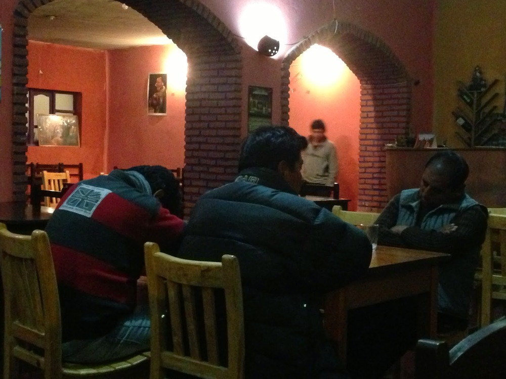I guess the fact that the only other people in the restaurant was a table of three sleeping Bolivian men, made them eager to close up shop.