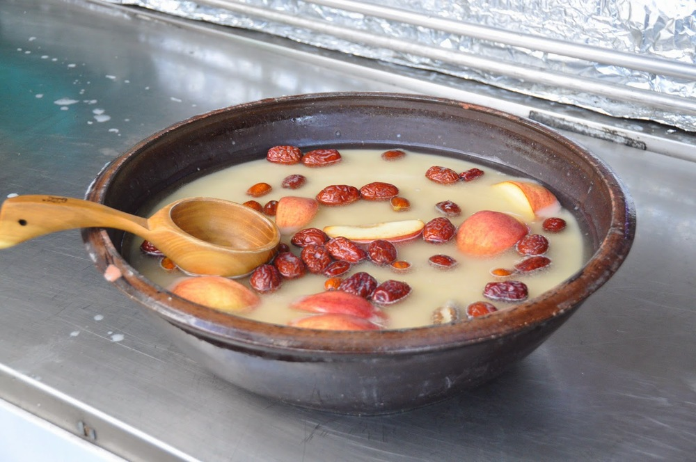 Apple and Date Makkoli (Korean rice wine)
