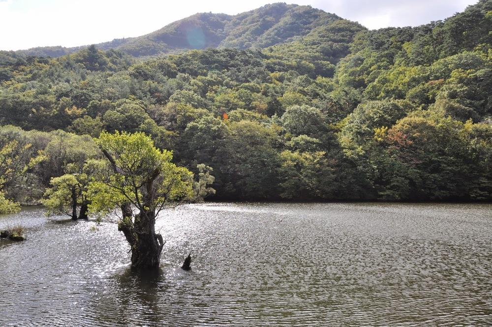 Jusanji pondJuwangsan National Park Camping Korea