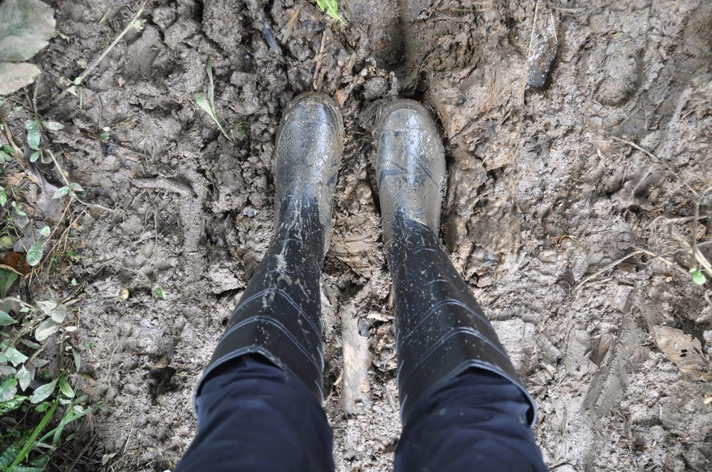And this is why we were glad we bought rain boots...